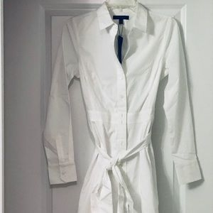 NWT Banana Republic Poplin White Shirt Dress